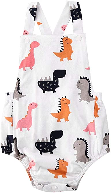 Infant Baby Girls Boys Long Sleeve Alpaca Print Romper Jumpsuit Clothes Outfits