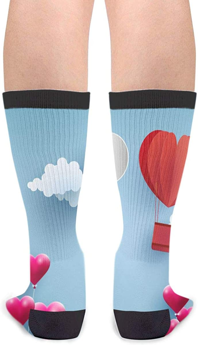 YISHOW Balloons And Balloons Are Symbols Of Love Happy Valentines Day Athletic Socks Party Accessory