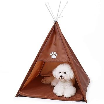 OHANA Tienda de Mascotas portátil Cama para Perros con ...