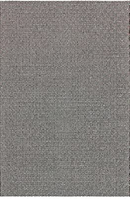 nuLOOM 5' x 8' Hand Loomed Diamond Cotton Check Rug in Black
