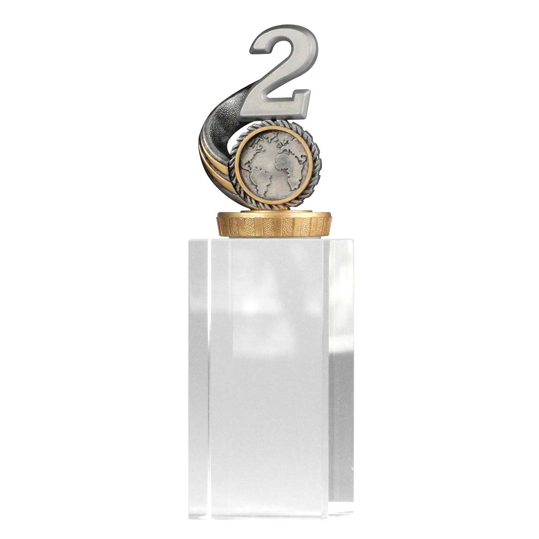 M und L Troph/äe Zahl//Platz 1,2,3 mit Glassockel Gr/ö/ße S pokalspezialist Pokal