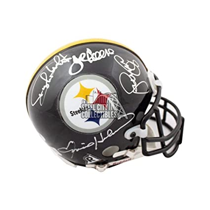 a996cf56f0e Image Unavailable. Image not available for. Color  Steel Curtain Autographed  Signed Pittsburgh Steelers Authentic Mini Helmet Memorabilia ...