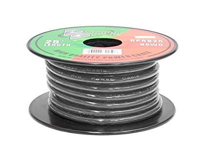 Amazon pyramid rpb825 ground wire 8 gauge 25 feet flexible pyramid rpb825 ground wire 8 gauge 25 feet flexible ofc cable wire greentooth Images