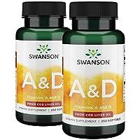 Swanson Vitamin A & D 500 Sgels 2 Bottles