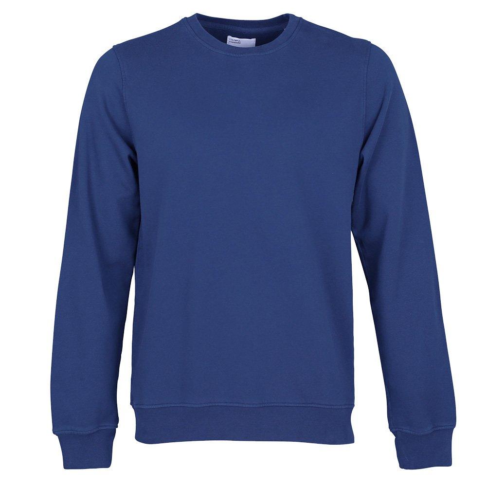 Farbeful Standard Classic Organic Crew Sweater Small Royal Blau