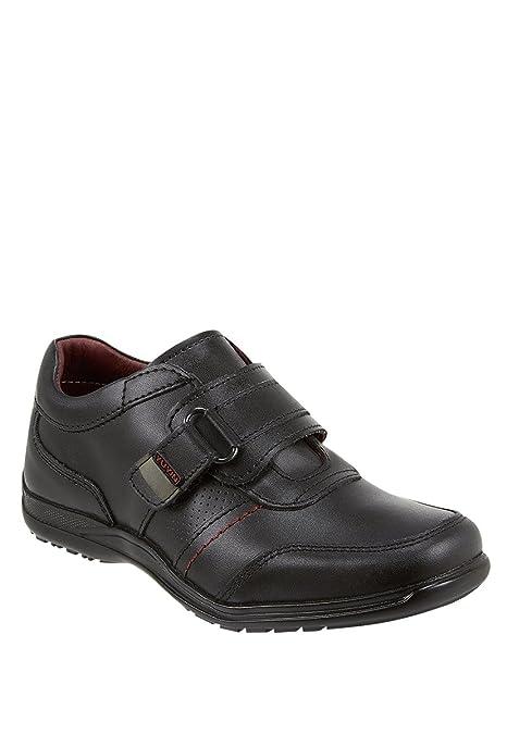 65d5ae2e Impuls YUYIN Zapato Escolar con Broche Zapato para Niños Negro Talla ...
