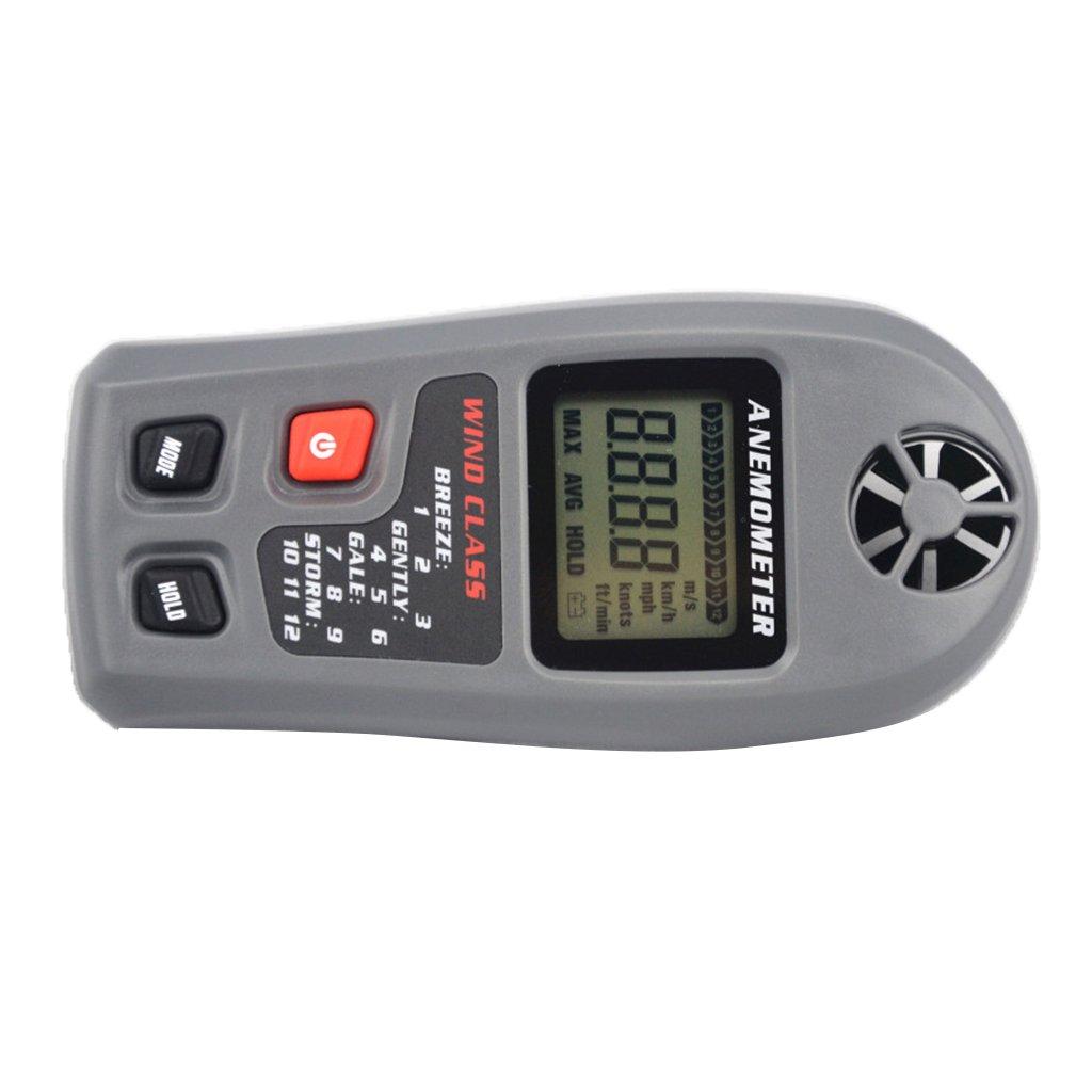 Sharplace Anemómetro Mt-20 de Instrumento de Medición Portátil