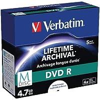 Verbatim 43821 M-Disc 4X DVD-R - 5 Pack Jewel Case
