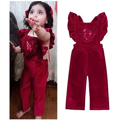 b40f3c17905b Amazon.com  Franterd Little Girls Straps Rompers