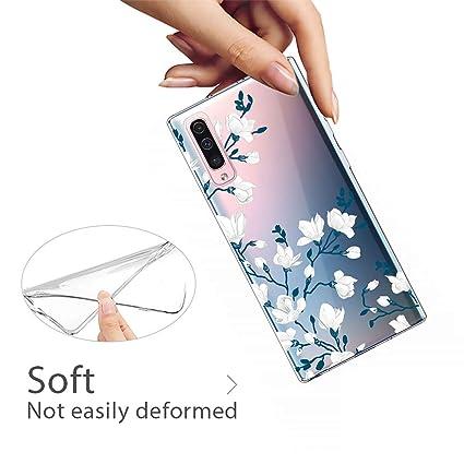 AChris Funda Movil para Samsung Galaxy A40 Transparente Silicona con Dibujos Flexible Choque-Absorbente Rasgu/ño-Resistente Ultra-Suave Carcasa Compatible with Samsung Galaxy A40 Alce