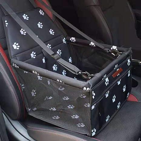 SWIHELP Bolsa de Transporte para Mascotas, Asiento del Coche de Seguridad para Mascotas Perro Gato Plegable Lavable Viaje Bolsas y Otra Mascota ...