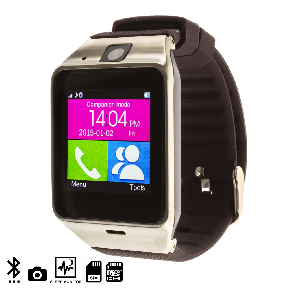 Silica DMQ235 marrón. Gold - GV 18 Smart Bluetooth Watch, Color marrón y Gold