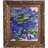 overstockArt Nenúfares por Claude Monet Pintado a mano Óleo sobre lienzo con marco dorado Burgeon