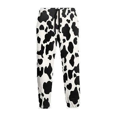 LDDDP Pantalones de chándal con Estampado de Vaca (2) para Hombre ...