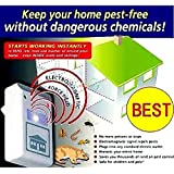 As Seen on TV! Pest Repeller Pest Control Against Mouse, Rat and Insects with Built in Night Light