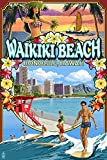 Waikiki Beach, Oahu, Hawaii - Scenes (24x36 SIGNED Print Master Giclee Print w/ Certificate of Authenticity - Wall Decor Travel Poster)