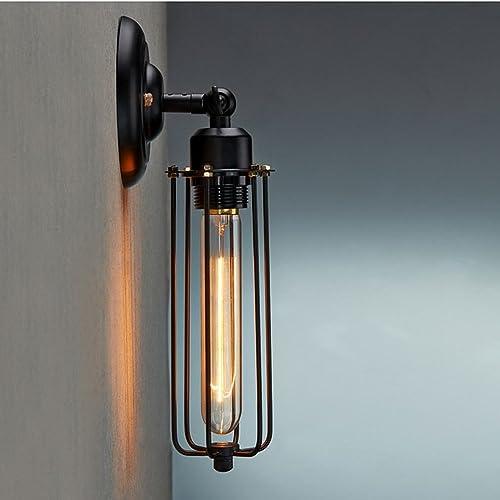 Industrial Wall Light Amazon: Lighting Industrial Edison Vintage Style Mini Black Long