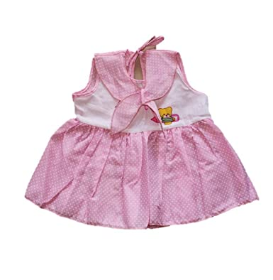 c796ef45de71 Bambinokids Baby Girl Cotton Frocks Combo - Set of 3  Amazon.in ...