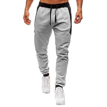 bastante agradable 9599b 07293 LuckyGirls Pantalón Chándal Hombre Pantalones Originales Bolsillos con  Cremallera Ropa Deportiva Jogger Pants