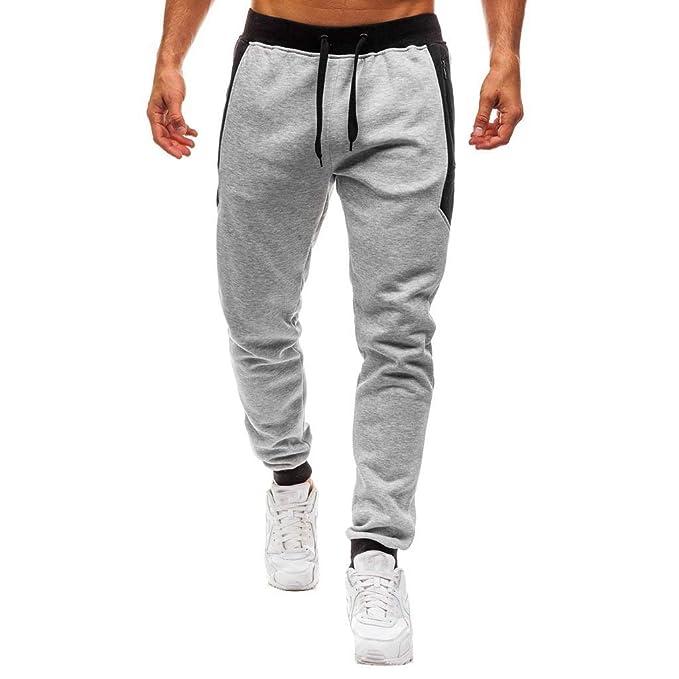 Pantalones Deportivos para Hombres Ligeros Largos Elásticos Pantalones de  Chándal para Gimnasio Deportes Correr Jogging Entrenamiento con Cordón y  Bolsillo ... 0d2a1e1ae79