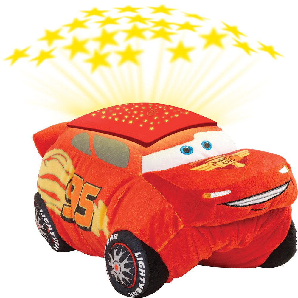 Pillow Pets Disney Pixar Cars Cars 3 Lightning McQueen Dream Lites Stuffed Animal Night Light