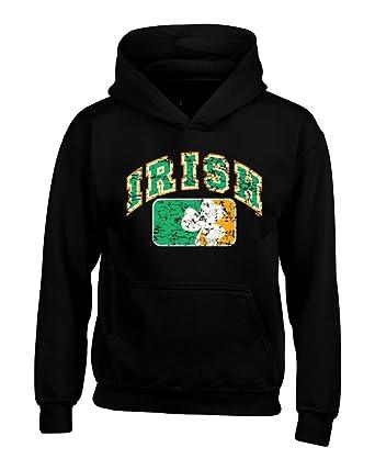 d025f8f74 Amazon.com  Shop4Ever Vintage Irish Flag Shamrock Hoodies Saint ...
