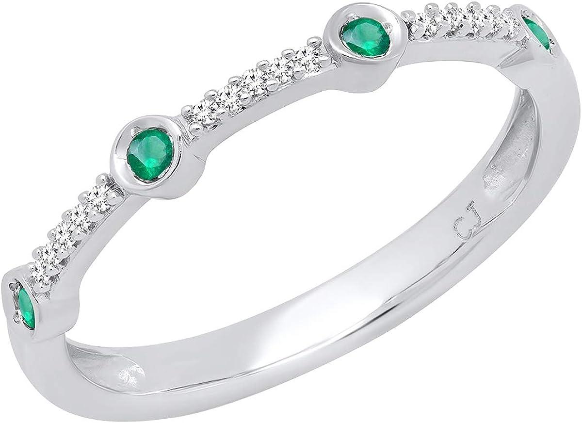 New York Mall Dazzlingrock Collection store Round Emerald White Ladies Ann Diamond