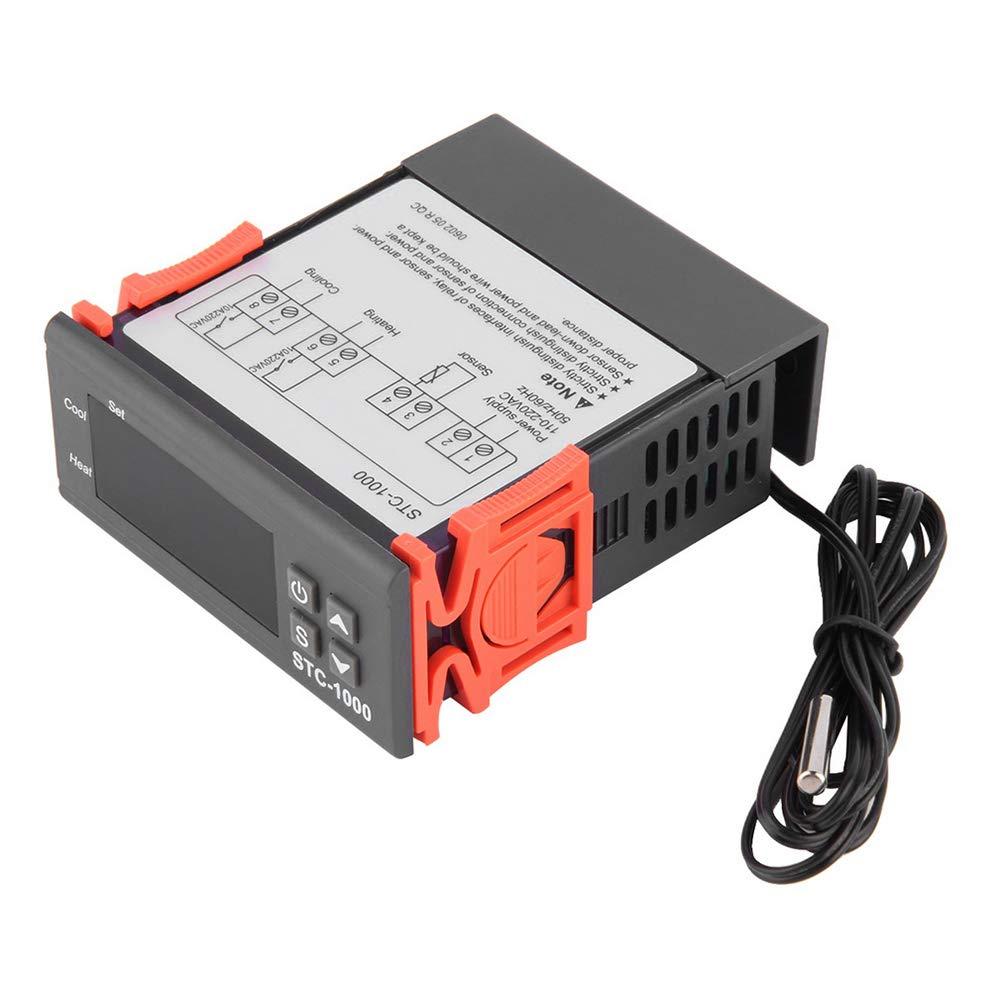 NAttnJf Regolatore di Temperatura Termostato Digitale Universale per termostato con sensore per Acquario
