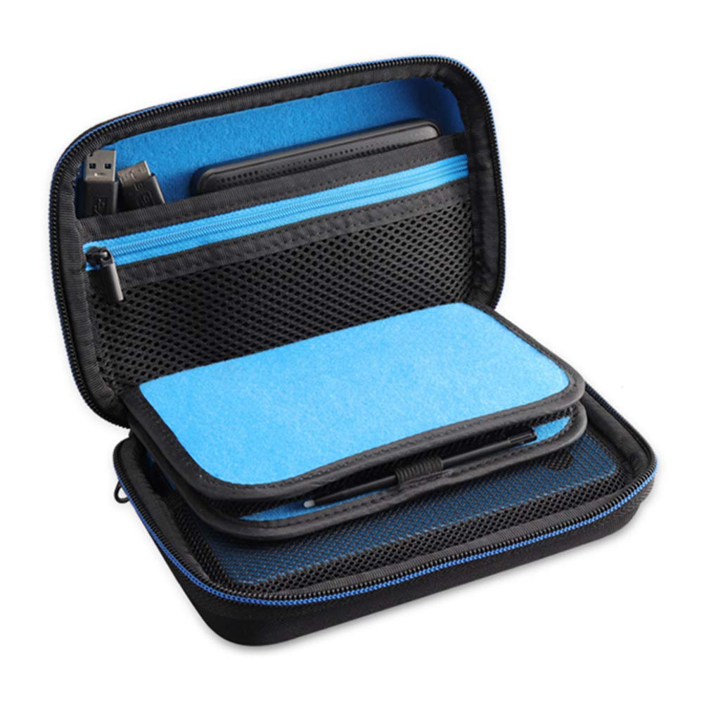 Soyan Carrying Case for Nintendo 2DS XL and New 3DS XL, 16 Game Card  Holders, with Carry Handle (Blue)