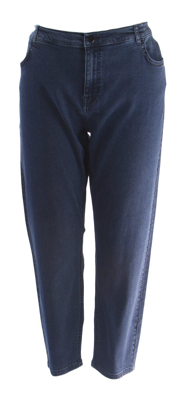 Marina Rinaldi Women's Rosita Embellished Seam Jeans, Navy, 18W/27