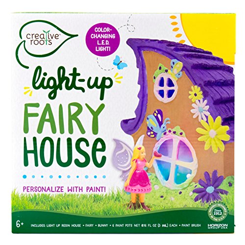 Creative Roots Light Up Fairy House by Horizon Group USA (Kit Garden Craft)