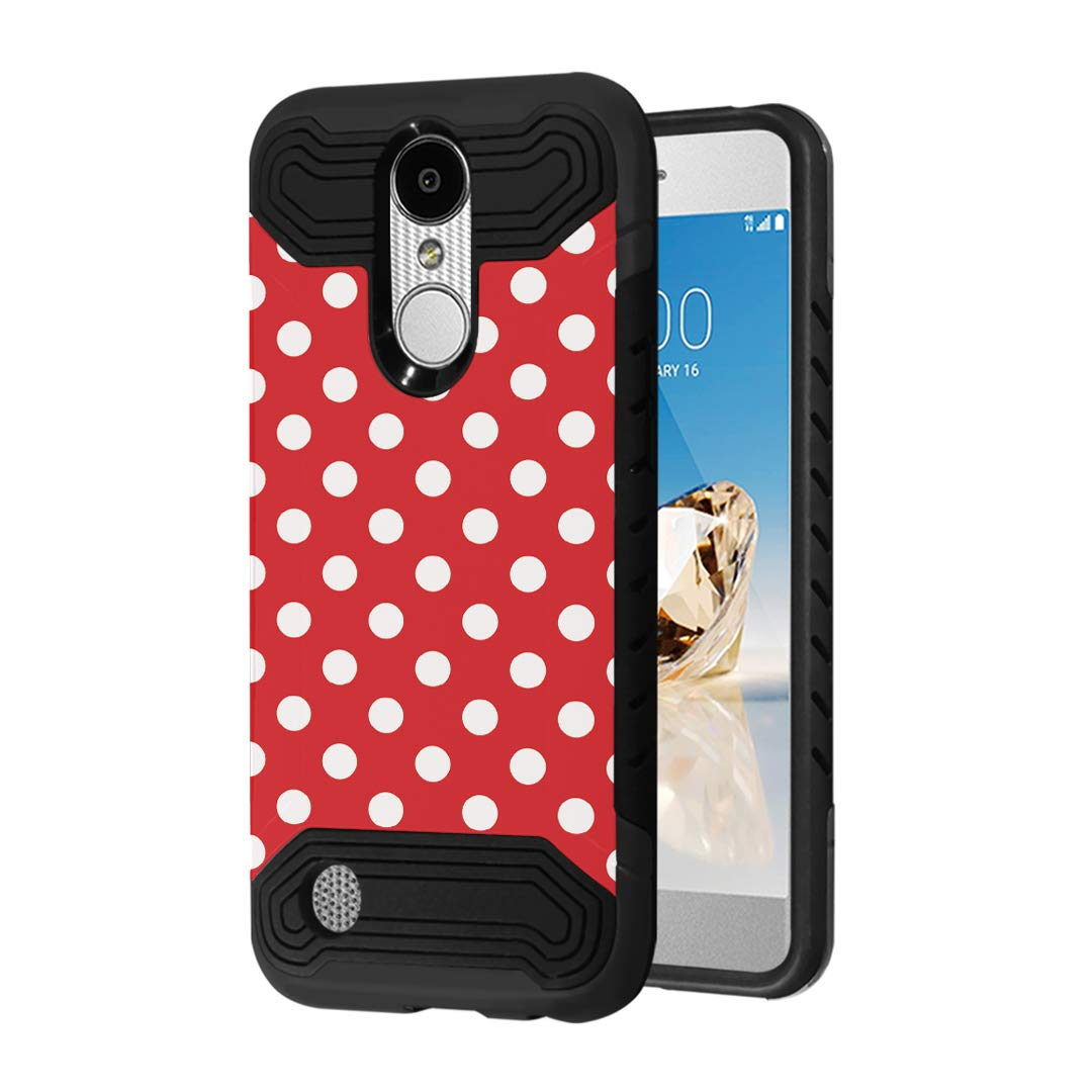 Case Compatible with LG Aristo 2 (X210), Aristo 2 Plus, Fortune 2, Rebel 3, Risio 3, Tribute Dynasty, Zone 4, K8, K8 Plus 2018 [Moriko Slim Black Case] for LG Aristo (Polka Dot)