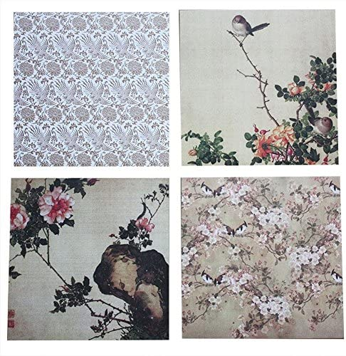 24 feuilles de papier /à motifs papier de scrapbooking fleurs romantiques album vintage cartes de scrapbook papier de fond 6.0 6.0in
