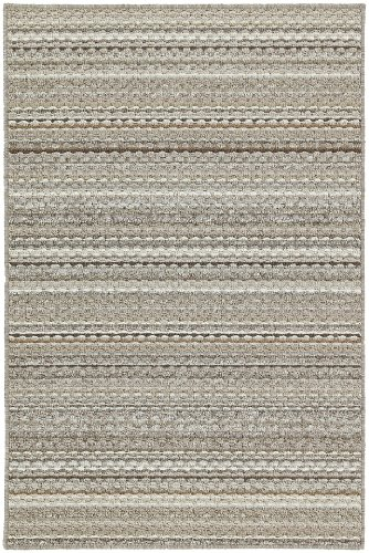 Garland Rug Carnival Area Rug, 3-Feet by 5-Feet, Random Earthtone Stripes (Color and Design May Vary)