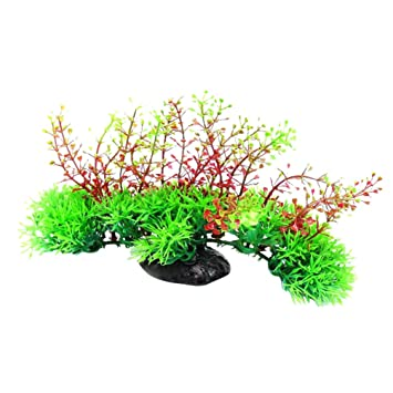 YOSEMITE planta artificial verde hierba plantas de agua para pecera acuario decoración planta estanque: Amazon.es: Hogar