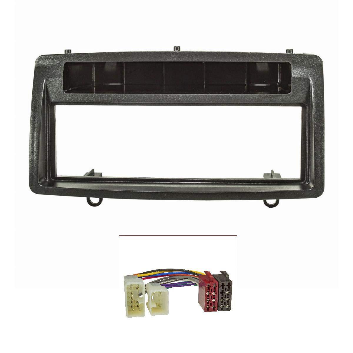 tomzz Audio ® 2455-016 Radioblende (Set) für Toyota Corolla E12 E120 2002-2007, schwarz