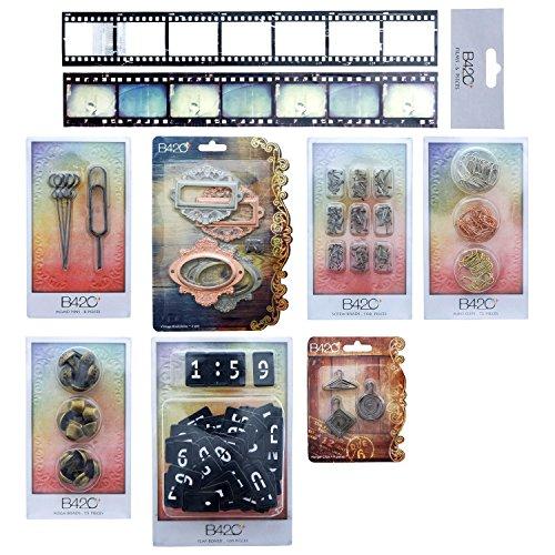 B42O Scrapbook KIT Craft Supplies Embellishments for Keepsake Journal Card Making Memory Book