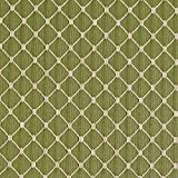 Fern Beige and Green Diamond Mesh Pattern Chenille Upholstery Fabric by the yard