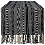 """DII 15x72"""" Braided Cotton Table Runner, Navy Blue - Perfect for Summer, Holiday Parties and Everyday Use"""