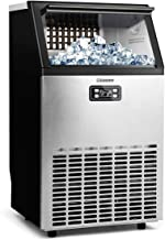 Euhomy Commercial Ice Maker Machine, 100lbs/24H Stainless Steel under counter ice