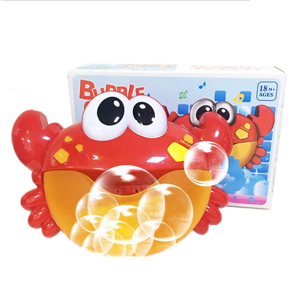 Frealm Bath Toy Baby Bathtub Shower Toys Crab Music Bubble Machine Toddler Babies Bathing Toy (02-Crab Bubble)