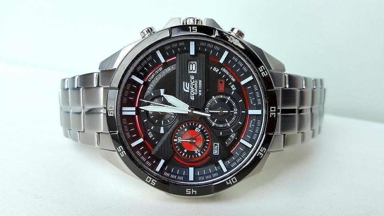 Casio Reloj Cronógrafo para Hombre de Cuarzo con Correa en Acero Inoxidable EFR-556DB-1AVUEF: Amazon.es: Relojes