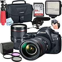 Canon 5D Mark IV DSLR Camera with EF 24-105mm USM Lens,Led Video Light,Shotgun MIC, 64GB Sandisk Class 10 Memory-WiFi Enabled