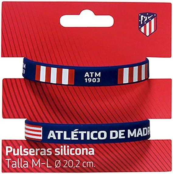 Set 2 Pulseras Silicona Atletico Madrid Adulto: Amazon.es: Juguetes y juegos