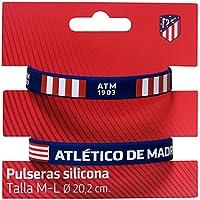 Set 2 Pulseras Silicona Atletico Madrid Adulto