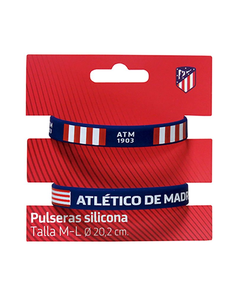Set 2  bracelets silicone Atletico Madrid Adult CYP 8426842060446