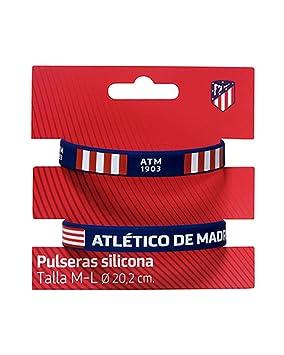 43cef2be236f Set 2 Pulseras Silicona Atletico Madrid Adulto  Amazon.es  Juguetes y juegos