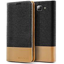 LG K4 2016 / Optimus Zone 3 Case, Evocel® [The Folio Series] 2-Tone Stylish Folio Case [Flip][Easy-Open] Seamless Magnetic Closure [Textured][Kickstand] Prop-Up Feature For LG K4 2016 / Optimus Zone 3 / LG Spree/ LG Spree , Black