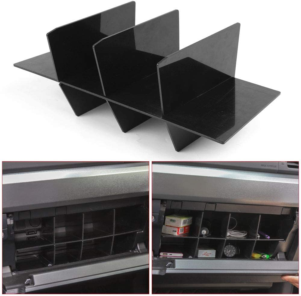 Glove Compartment Divider 2010-2019 RT-TCZ Glove Box Console Organizer for Toyota 4Runner
