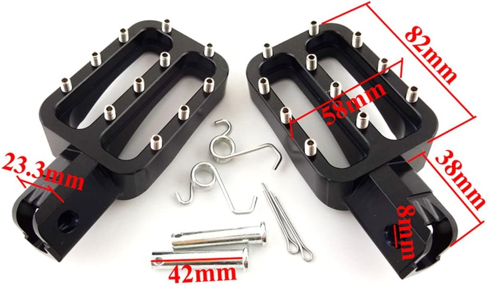 XLYZE Black-CNC Aluminum Footpegs Footrest Foot Rest Foot Pegs For Chinese KLX110 XR50 CRF50 CRF70 IMR Pitster YCF Pit Dirt Motor Bike Motorcycle